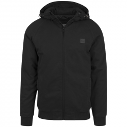 Hooded Cotton Zip Jacket - URBAN CLASSICS, TB1805