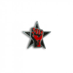 Star & Fist, Metal-Pin