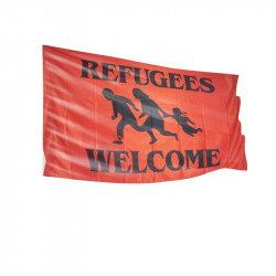 Refugees Welcome - Fahne-