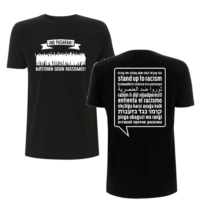 Aufstehen gegen Rassismus - unisex Soli-T-Shirt, FairTrade - N03