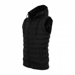 Small Bubble Hooded Vest - schwarz - URBAN CLASSICS, TB510