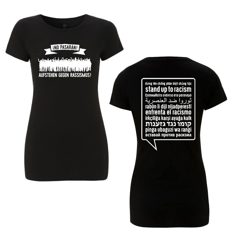 Aufstehen gegen Rassismus - Soli-T-Shirt tailliert, FairTrade/Bio - EP04