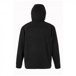 Hooded Recycled Microfleece Jacket - black, RT906