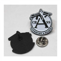 CRASS ANARCHY & PEACE   - Metal-Pin
