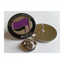 ANTIFASCHISTISCHE AKTION LILA/SCHWARZ - Metal-Pin