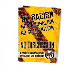 No Racism - Aufkleber - 30 Stück