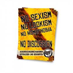 No Sexism - Aufkleber - 30 Stück