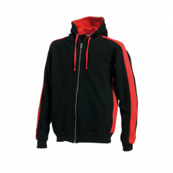 Kapuzenjacke - Full Zip Hoodie, Finden & Hales -  Black/Red, FH330
