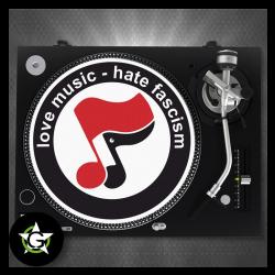 LOVE MUSIC HATE FASCISM - SLIPMAT