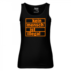 Kein Mensch ist illegal - Bio-FairTrade-Ladies-Tank-Top-Shirt, NE81300
