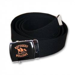 Gürtel -Refugees Welcome - Black - Belt