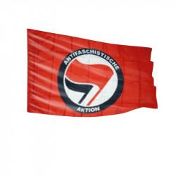 Antifaschistische Aktion - rot/schwarz - Fahne-