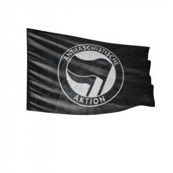 Antifaschistische Aktion - schwarz/schwarz - Fahne-