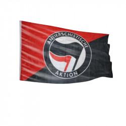 Scharz/Rot - Antifa Logo - Fahne-
