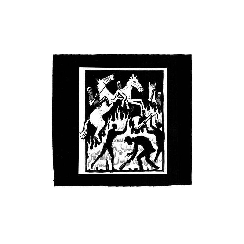 Drooker-Riot Horse – Aufnäher