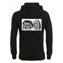 Drooker-Music vs. Military – Kapuzenpullover N50P
